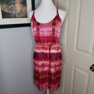 Banana republic Silk Dress WaterColor Print Sz 4P